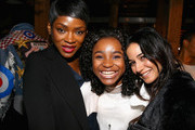 (L-R) Caroline Chikezie, Saniyya Sidney and Emmanuelle Chriqui attend the SCAD aTVfest and Entertainment Weekly party at Lure on February 8, 2019 in Atlanta, Georgia.