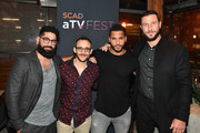(L-R) Mousa Kraish, Omid Abtahi, Ricky Whittle and Pablo Schreiber attend the SCAD aTVfest and Entertainment Weekly party at Lure on February 8, 2019 in Atlanta, Georgia.