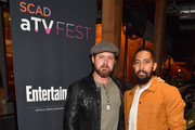 A.J. Buckley and Neil Brown Jr. attend the SCAD aTVfest and Entertainment Weekly party at Lure on February 8, 2019 in Atlanta, Georgia.