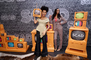 Yara Shahidi (L) and Michelle Cole attend SCAD aTVfest 2020 - In Conversation: The Spirit And Style Of 'Grown-ish' With Yara Shahidi And Michelle R. Cole on February 28, 2020 in Atlanta, Georgia.