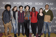 "Brent Matthews, Quincy Fouse, Kaylee Bryant, Aria Shahghasemi, Jenny Boyd, Chris Lee, Julie PlecDanielle Rose Russell, Peyton Alex Smith, and Samantha Highfield attend SCAD aTVfest 2020 - ""Legacies"" on February 29, 2020 in Atlanta, Georgia."