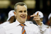 Head coach Billy Donovan of the Florida Gators celebrates their 61 to 60 win over the Kentucky Wildcats during the Championship game of the 2014 Men's SEC Basketball Tournament at Georgia Dome on March 16, 2014 in Atlanta, Georgia.