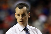 Head coach Billy Donovan of the Florida Gators looks on against the Auburn Tigers during the first round of the SEC Men's Basketball Tournament at the Bridgestone Arena on March 11, 2010 in Nashville, Tennessee.