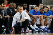 Head coach Billy Donovan of the Florida Gators looks on against the Missouri Tigers during the quarterfinals of the SEC Men's Basketball Tournament at Georgia Dome on March 14, 2014 in Atlanta, Georgia.