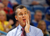 Head coach Billy Donovan of the Florida Gators looks on against the Alabama Crimson Tide during their quarterfinal game in the 2012 SEC Men's Basketball Conference Tournament at New Orleans Arena on March 9, 2012 in New Orleans, Louisiana.