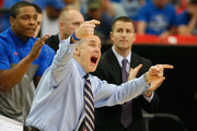 Head coach Billy Donovan of the Florida Gators directs his team against the Tennessee Volunteers during the semifinals of the SEC Men's Basketball Tournament at Georgia Dome on March 15, 2014 in Atlanta, Georgia.