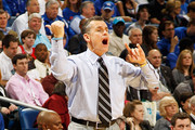 Head coach Billy Donovan of the Florida Gators reacts in the second half against the Kentucky Wildcats during the semifinals of the SEC Men's Basketball Tournament at New Orleans Arena on March 10, 2012 in New Orleans, Louisiana.