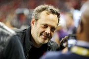 Actor Vince Vaughn attends the SEC Championship game between the LSU Tigers and the Georgia Bulldogs at Mercedes-Benz Stadium on December 07, 2019 in Atlanta, Georgia.