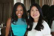 (L-R) Athlete Allyson Felix and Joyce Chang attend SELF Joyce Chang, Jessica Alba Caley Yavorsky and Allyson Felix Luncheon on October 14, 2014 in Los Angeles, California.