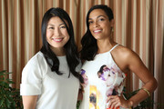 (L-R) Joyce Chang and Actress Rosario Dawson attend SELF Joyce Chang, Jessica Alba Caley Yavorsky and Allyson Felix Luncheon on October 14, 2014 in Los Angeles, California.