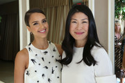 (L-R) Actress Jessica Alba and Joyce Chang attend SELF Joyce Chang, Jessica Alba Caley Yavorsky and Allyson Felix Luncheon on October 14, 2014 in Los Angeles, California.