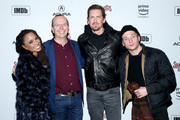 (L-R) Shanola Hampton, IMDb Founder and CEO Col Needham, Steve Howey, and Jeremy Allen White attend a party hosted by SHOWTIME®, Prime Video Channels, and IMDb to celebrate SHAMELESS at Acura Festival Village on January 26, 2019 in Park City, Utah.