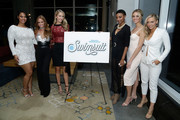(L-R) Models Tabria Majors, Haley Kalil, Olivia Jordan, Iyonna Fairbanks, Allie Ayers and Camille Kostek attend the SI Swimsuit 2018 Model Search celebration and preview of the Sports Illustrated Swim and Active Collection at Mr. Purple in Hotel Indigo LES November 1, 2017 in New York City.