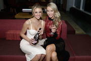 Model Allie Ayers and Actress, model and Miss USA 2015 Olivia Jordan attend the SI Swimsuit 2018 Model Search celebration and preview of the Sports Illustrated Swim and Active Collection at Mr. Purple in Hotel Indigo LES November 1, 2017 in New York City.