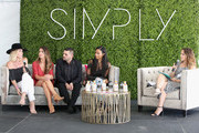(L-R) Designer Amber Farr, tv personality Audrina Patridge, designer Michael Costello, Vanessa Simmons and Ali Grant  speak onstage during SIMPLY Los Angeles Fashion + Beauty Conference Powered By NYLON at The Grove on July 15, 2017 in Los Angeles, California.