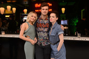 """Kelli Berglund, Beau Mirchoff and Roxane Mesquida attend the STARZ American Gods """"House of the Gods"""" intimate experience at SXSW on March 9, 2019 in Austin, Texas."""