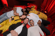 "Mousa Kraish, Yetide Badaki, Demore Barnes, Emily Browning, Pablo Schreiber and Omid Abtahi attend the STARZ American Gods ""House of the Gods"" intimate experience at SXSW on March 9, 2019 in Austin, Texas."