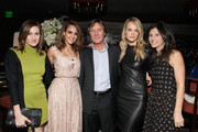 (L-R) Founder of Who What Wear Daily Katherine Power, actress Jessica Alba, Executive Vice President SWAROVSKI ELEMENTS Reinhard Mackinger, Baby2Baby President Kelly Sawyer Patricof and Norah Weinstein attend Swarovski Elements private holiday dinner hosted by Jessica Alba held at Soho House on November 16, 2011 in West Hollywood, California.