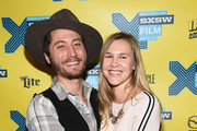 Director Turner Ross (L) and Sara Wolters poses with the award for the Louis Black Lone Star Award during the SXSW FIlm Awards at the 2015 SXSW Music, FIlm + Interactive Festival at the Paramount Theatre on March 17, 2015 in Austin, Texas.
