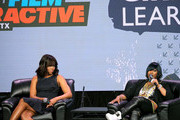 First Lady of the United States Michelle Obama (L) and Missy Elliot speak onstage at SXSW Keynote: Michelle Obama during the 2016 SXSW Music, Film + Interactive Festival at Austin Convention Center on March 16, 2016 in Austin, Texas.