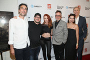 "(L-R) Alexandre Moors, Courtney Soloman, Brigitte Wise, Mark Canton, Stephanie Caleb and Jeff Sharp attend ""The Yellow Birds"" premiere presented by Saban Films and DIRECTV at The London West Hollywood on June 6, 2018 in West Hollywood, California."