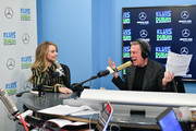 "Elvis Duran (R) interviews Sabrina Carpenter during her visit to ""The Elvis Duran Z100 Morning Show"" at Z100 Studio on March 12, 2019 in New York City."