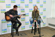 "Sabrina Carpenter (R) visits ""The Elvis Duran Z100 Morning Show"" at Z100 Studio on March 12, 2019 in New York City."