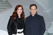 """Audrey Fleurot and Michael C. Hall attend """"Safe"""" Photocall during the 1st Cannes International Series Festival on April 11, 2018 in Cannes, France."""