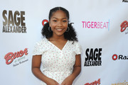"Laya DeLeon Hayes attends ""Sage Alexander: The Dark Realm"" Launch Party Co-hosted by Innersight Entertainment and TigerBeat Media at El Rey Theatre on July 14, 2018 in Los Angeles, California."