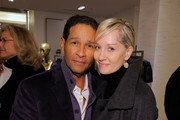 """Media personality Bryant Gumbal and Hilary Quinlan attend the launch of Pamela Fiori's New Book """"In The Spirit of Capri"""" at Saks Fifth Avenue on October 28, 2009 in New York City."""