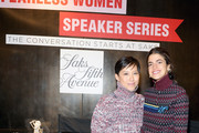 Leandra Medine (R) and Sandra Choi attend the Saks Fearless Women Speaker Series with Leandra Medine and Sandra Choi on October 16, 2018 in New York City.