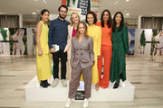 (L-R) Anna Irving, Jonathan Safran Foer, Tracy Margolies, Stella McCartney, Alina Cho, Roopal Patel, and Daphnie Au attend Stella McCartney in Conversation with Jonathan Safran Foer and Alina Cho, hosted by Saks Fifth Avenue on October 30, 2019 in New York City.