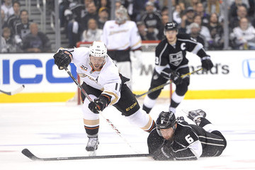 Saku Koivu Anaheim Ducks v Los Angeles Kings - Game Four