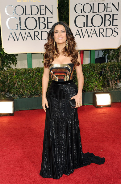 Salma Hayek Actress Salma Hayek arrives at the 69th Annual Golden Globe Awards held at the Beverly Hilton Hotel on January 15, 2012 in Beverly Hills, California.