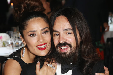 Salma Hayek Alessandro Michele Kering Official Cannes Dinner - Cocktail - The 68th Annual Cannes Film Festival