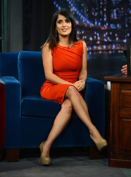 "Salma Hayek Actress Salma Hayek Pinault visits ""Late Night With Jimmy Fallon"" at Rockefeller Center on October 12, 2012 in New York City."