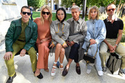 Carlo Sestini, Tina Leung, Yoyo Cao, Bryanboy, Xenia Adonts and Chris Burt Allan attend the Salvatore Ferragamo show during Milan Fashion Week Spring/Summer 2020 on September 21, 2019 in Milan, Italy.