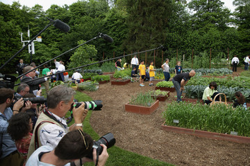Sam Kass Michelle Obama Hosts White House Garden Event