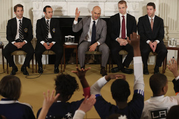 Sam Kass LA Kings and LA Galaxy Honored at White House