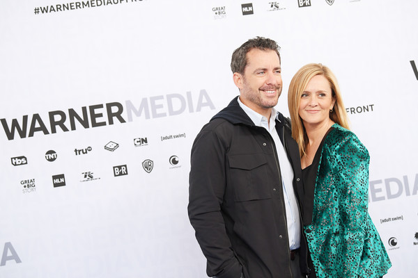 WarnerMedia Upfront 2019 - Arrivals [full frontal,green,premiere,yellow,white-collar worker,event,font,carpet,brand,suit,formal wear,arrivals,jason jones,samantha bee,the detour,tbs\u00e2,red carpet,new york city,warnermedia,arrivals]