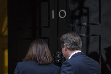 Samantha Cameron David Cameron Arrives in London as Conservatives Are Projected to Win the General Election
