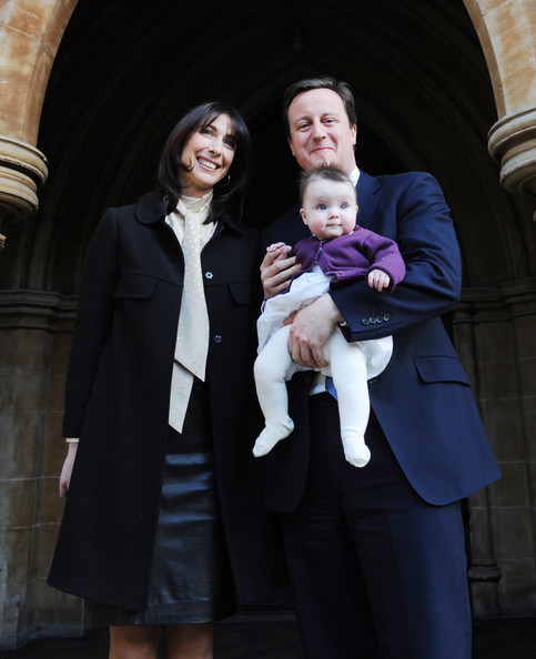 Photo of David Cameron & his  Daughter  Florence Rose Endellion Cameron