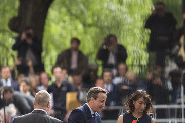 Samantha Cameron Theresa May Succeeds David Cameron As The UK's New Prime Minister