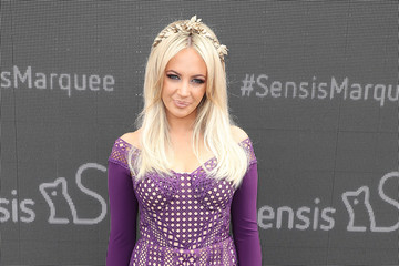 Samantha Jade Celebrities Attend Melbourne Cup Day