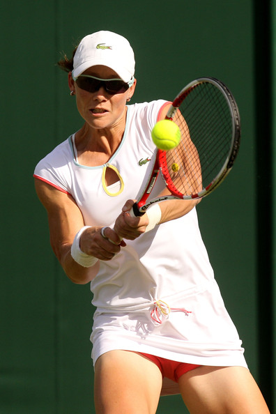Samantha Stosur Samantha Stosur of  Australia returns a s hot during her first round match against Melinda Czink of Hungary on Day Two of the Wimbledon Lawn Tennis Championships at the All England Lawn Tennis and Croquet Club on June 21, 2011 in London, England.