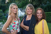 Actress Molly Sims, Hamptons Magazine Editor-in-Chief Samantha Yanks and Jimmy Choo USA President Tonia Steck attends the Samantha Yanks and Molly Sims Reception to Celebrate Jimmy Choo at c/o The Maidstone on August 31, 2017 in East Hampton, New York.
