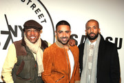(L-R) Music Executive Kevin Liles, Musician Jay Sean, and guest attend Samsung 837 Launch with Florence + The Machine at Samsung 837 in Meatpacking District on February 22, 2016 in New York City.