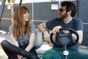 Singer Ryn Weaver (L) and actor Timothy Simons attend the Samsung Artist House at Austin City Limits Music Festival 2015 on October 2, 2015 in Austin, Texas.