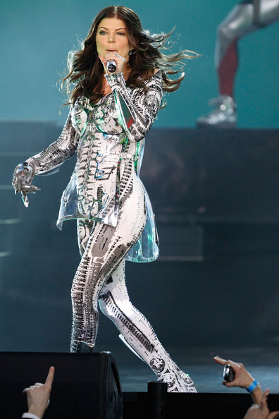 Singer Fergie of the Black Eyed Peas perform live at the Samsung Times Square Concert with THE BLACK EYED PEAS at Times Square on March 10, 2010 in New York City.