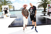 DJ Ruckus (L) and Miles Chamley-Watson attend the Samsung /make Creators Brunch During Miami Art Week on December 07, 2018 in Miami, Florida.